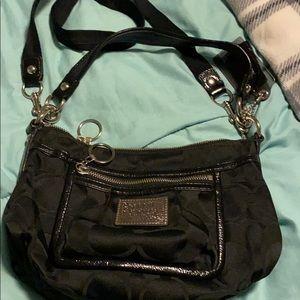 Black coach purse signature C